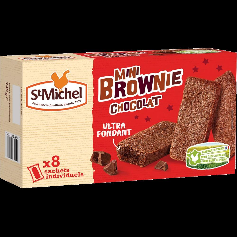 Mini brownie chocolat, St Michel (x 8, 240g)