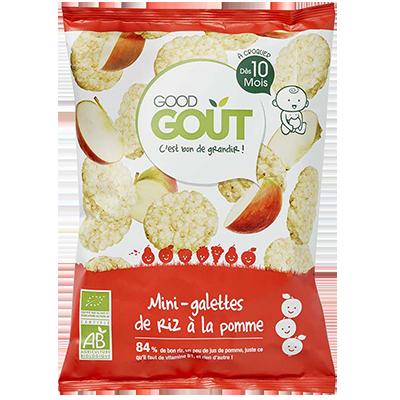 Mini galettes de riz à la pomme BIO - dès 10 mois, Good Goût (40 g)