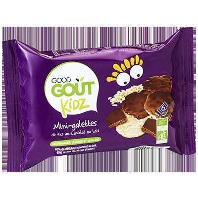 Mini galettes de riz au chocolat au lait BIO - dès 3 ans, Good Goût Kid'z (84 g)