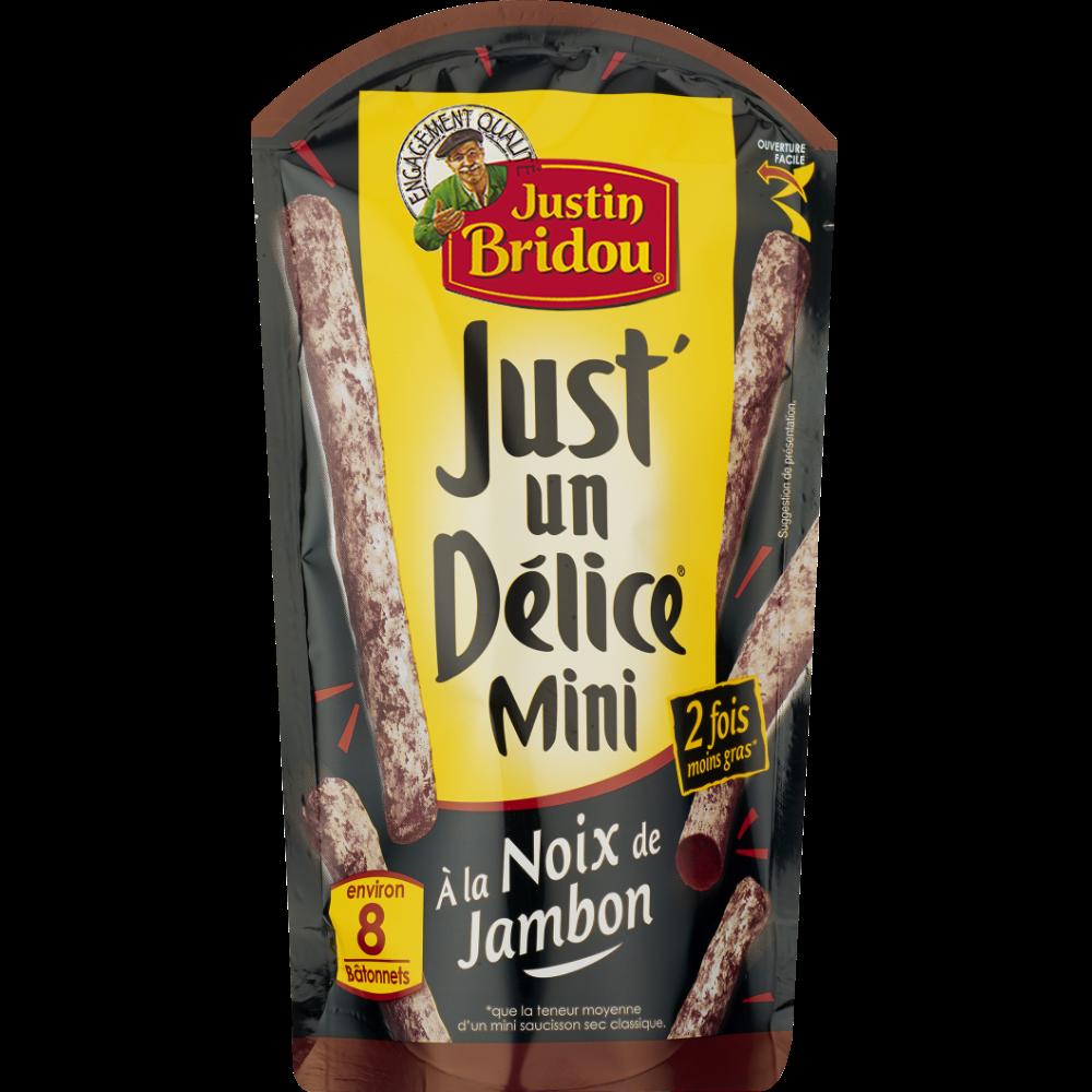 Mini Just'un Délice à la noix de jambon, Justin Bridou (80 g)