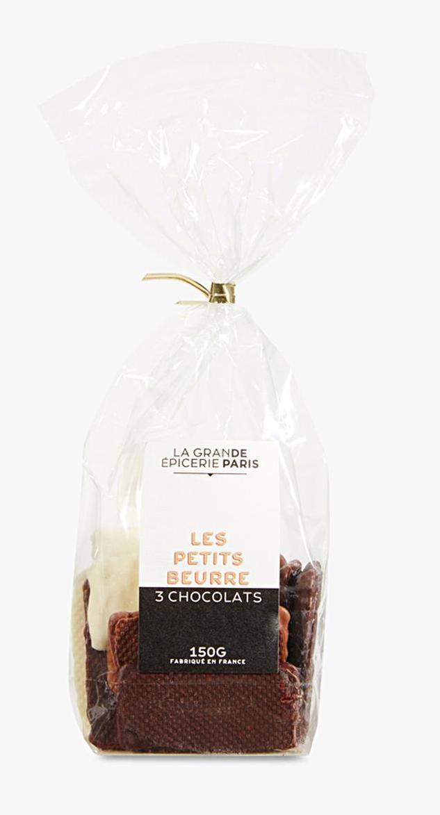 Mini petits-beurre aux 3 chocolats, La Grande Epicerie de Paris (150 g)