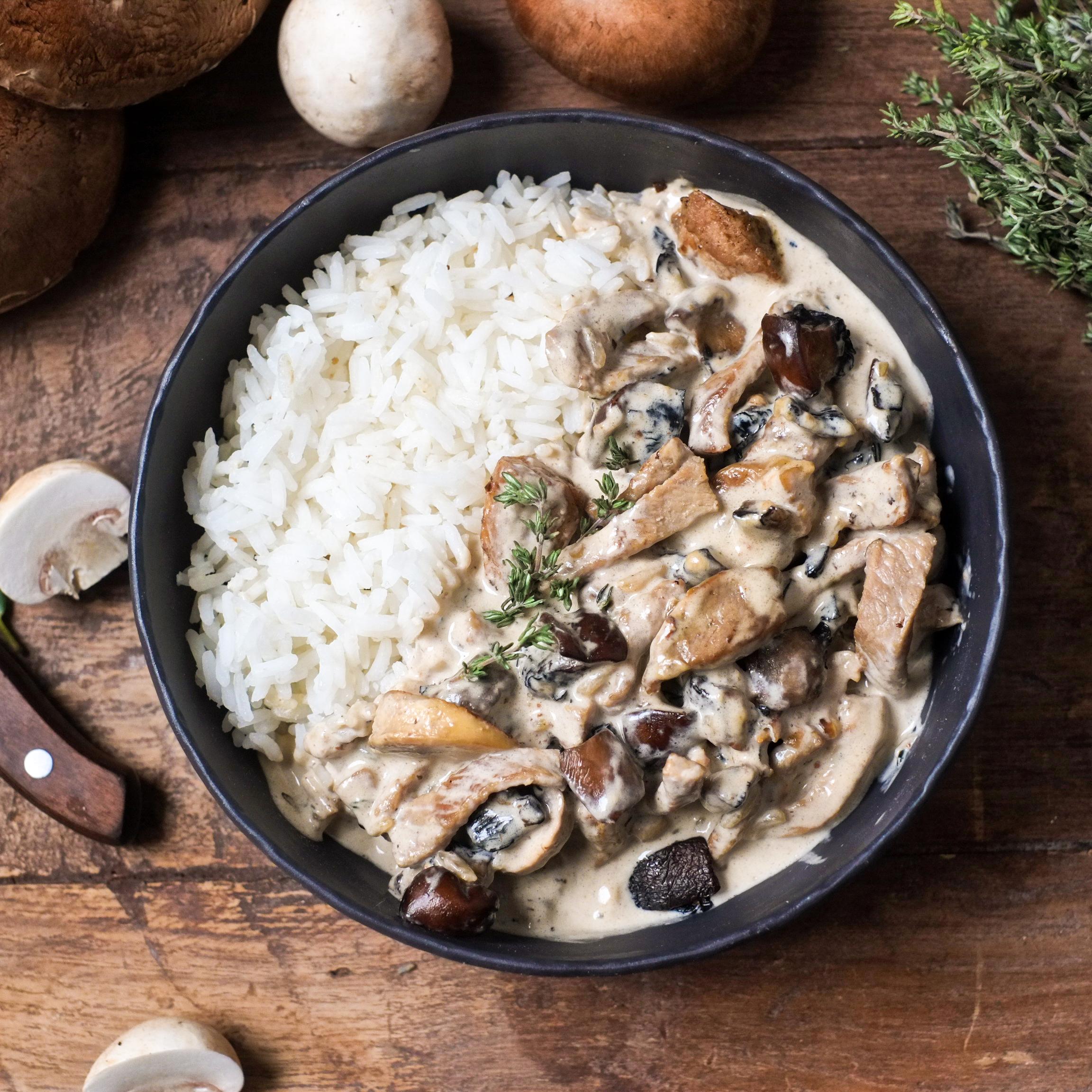 Veau à la normande, riz basmati