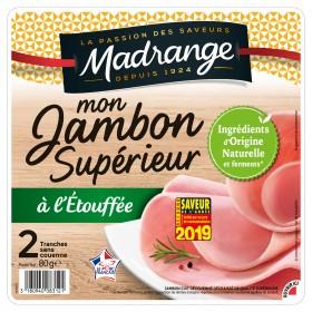Mon Jambon Supérieur sans couenne, Madrange (2 tranches, 80 g)