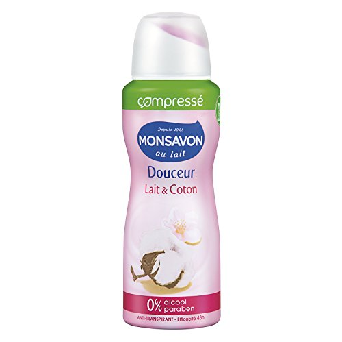 Déodorant compressé au lait et coton, Monsavon (100 ml)
