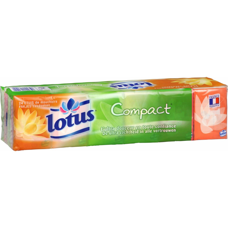 Etuis de mouchoirs blancs compact, Lotus (x 15)