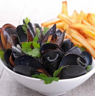 Kit moules marinières/frites & vin blanc (pour 2-3)