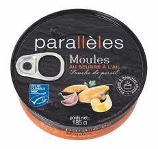Moules au beurre à l'ail, Parallèles (185 g)