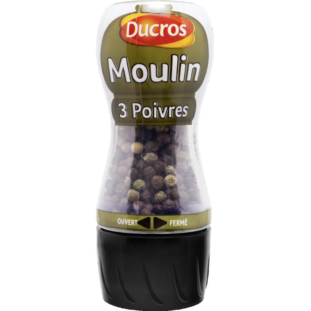 Moulin 3 poivres, Ducros (34 g)