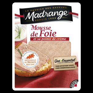 Mousse de foie et sa pointe de crème, Madrange (180 g)