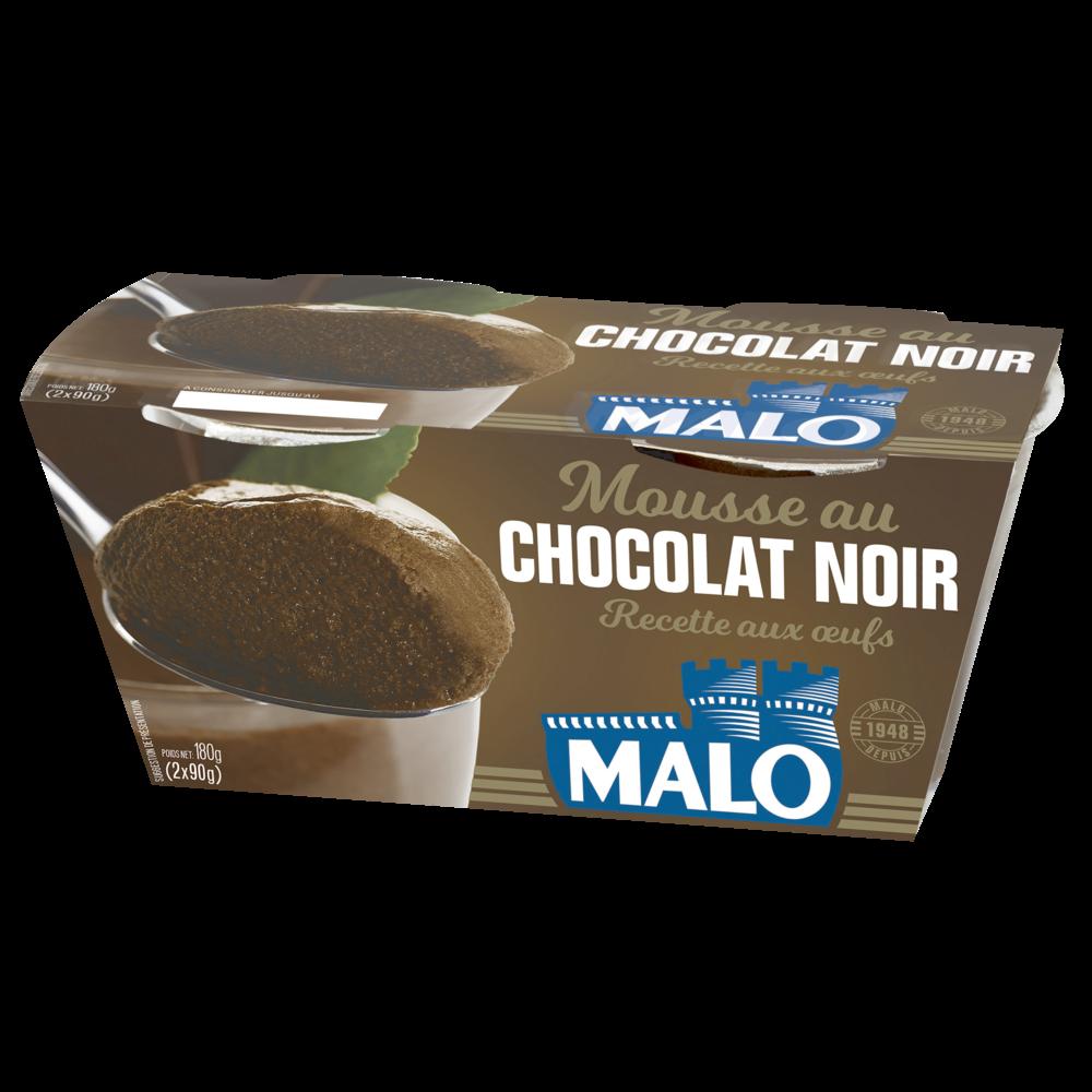 Mousse premium chocolat noir, Malo (2 x 90 g)