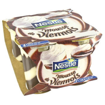 Mousse de Viennois au chocolat, Nestlé (4 x 90 g)