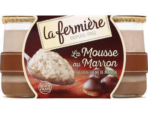 La Mousse Crème de marron, La Fermière (2 x 100 g)