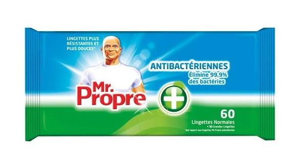 Lingettes anti-bactériennes, Mr Propre (x 64)