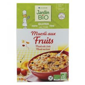 Muesli aux fruits Sans Gluten BIO, Jardin Bio (375 g)
