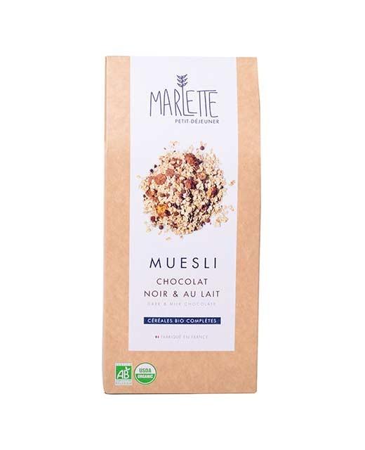 Muesli chocolat noir & au lait Bio, Marlette (350 g)