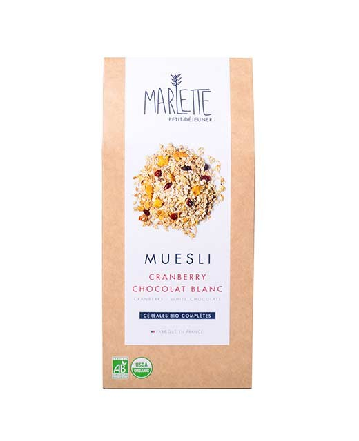 Muesli cranberry & chocolat blanc Bio, Marlette (350 g)