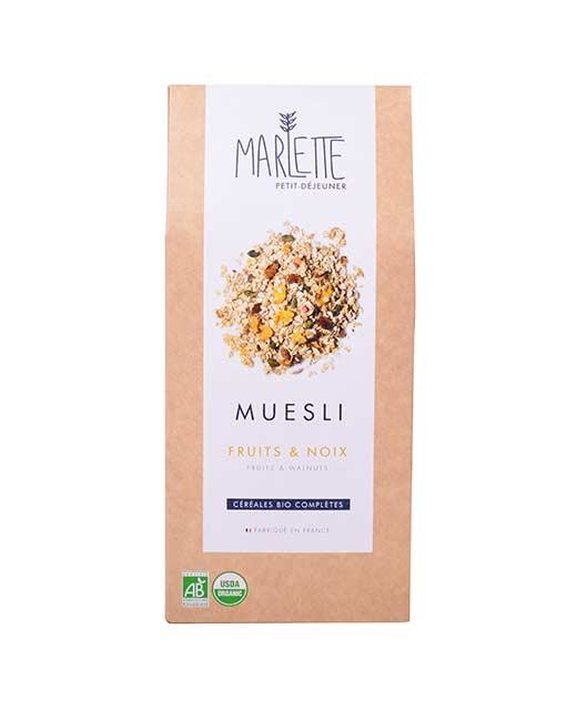 Muesli fruits & noix Bio, Marlette (350 g)