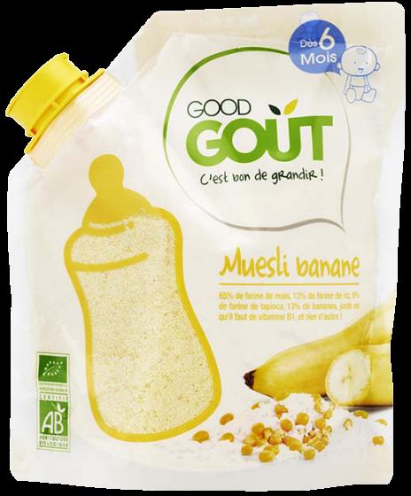 Muesli Banane BIO, Good Goût (200 g) - dès 6 mois