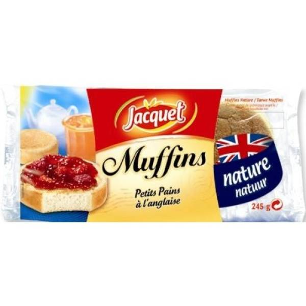 English Muffin nature, Jacquet (x 4, 245 g)