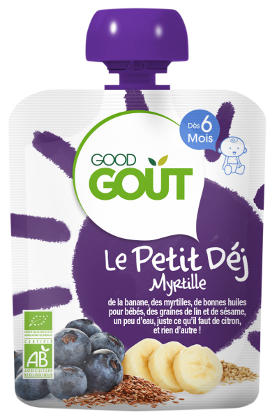 Le Petit Déj' Myrtille BIO - dès 6 mois, Good Goût (70 g)