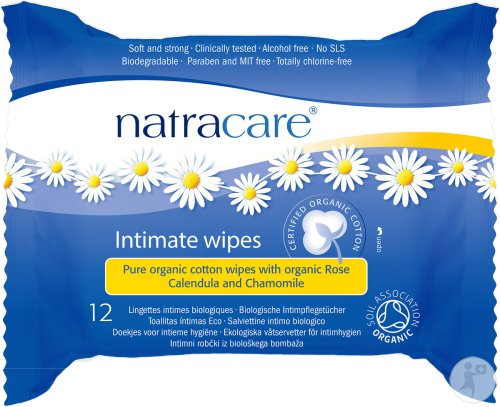 Lingettes intimes féminine, Natracare (x12)