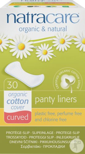 Protège slip naturel curved BIO, Natracare (x 30)