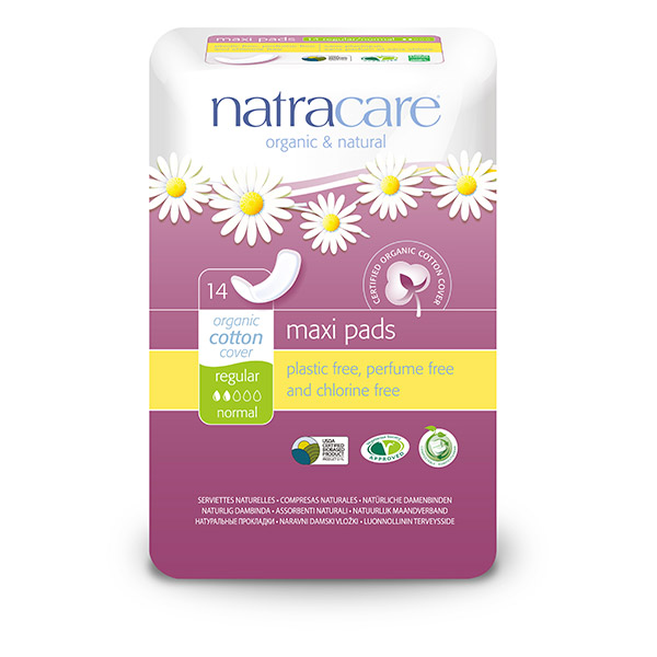 Serviette maxi regular, Natracare (x 14)