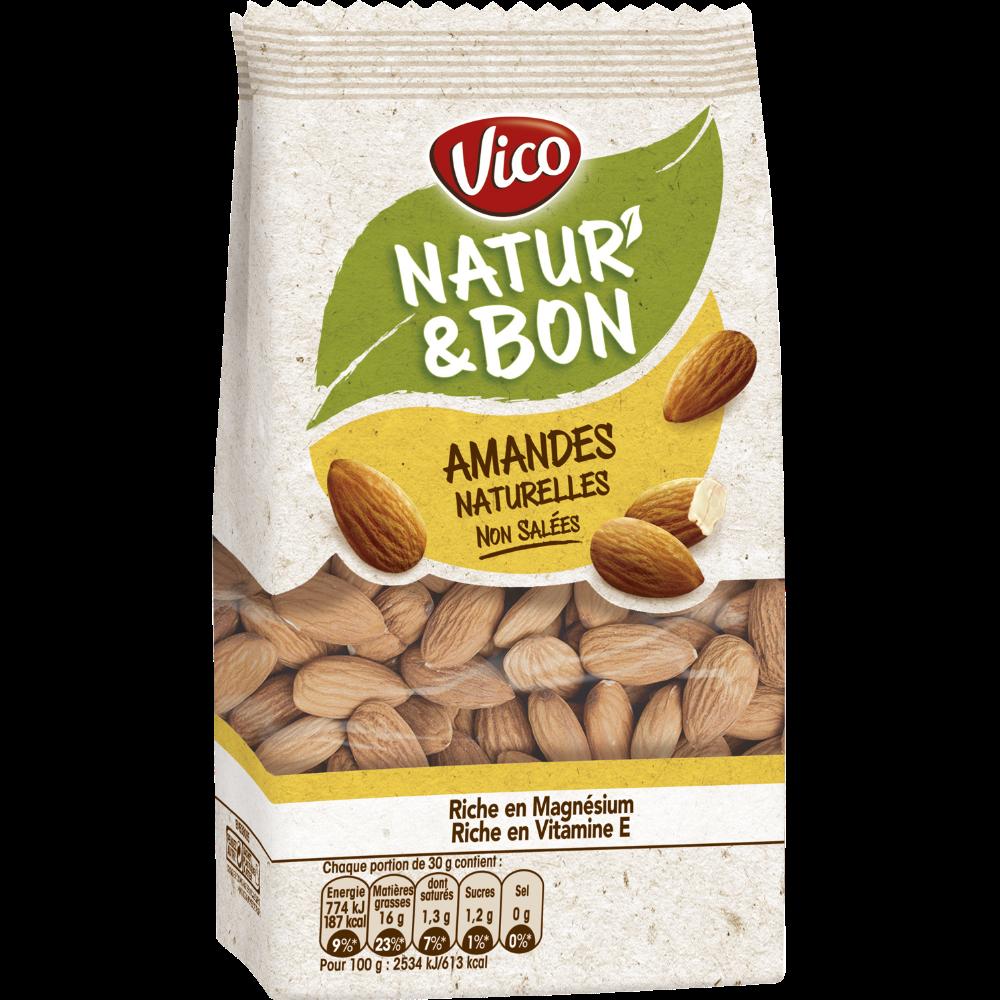 Natur'& bon amandes non salées, Vico (200 g)