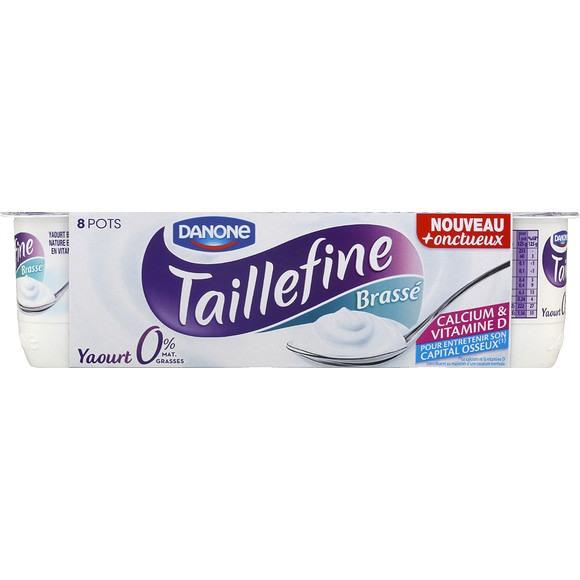 Yaourt Taillefine Brassé 0% Nature, Danone (8 x 125 g)