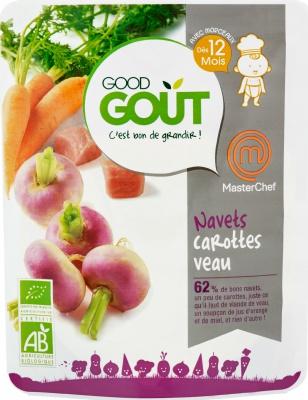 Navets Carottes Veau BIO - recette Masterchef, Good Goût (220 g) - dès 12 mois
