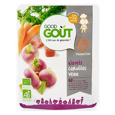 Navets Carottes Veau BIO, recette Masterchef - dès 12 mois, Good Goût (220 g)