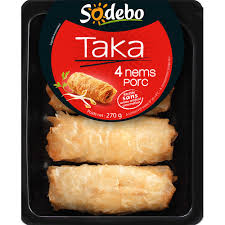 Nems Taka au porc, Sodebo (4 x 60 g)