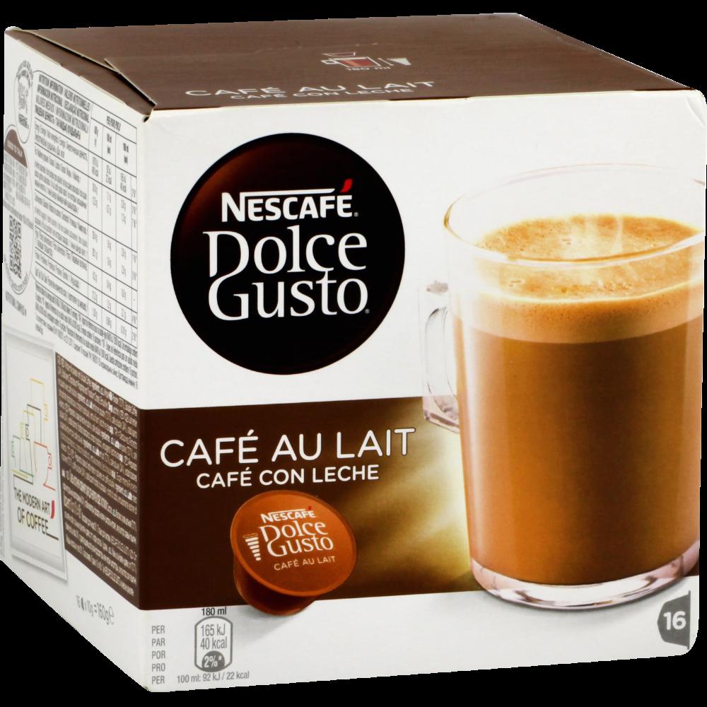 Café au lait capsule Nescafé Dolce Gusto (x 16)