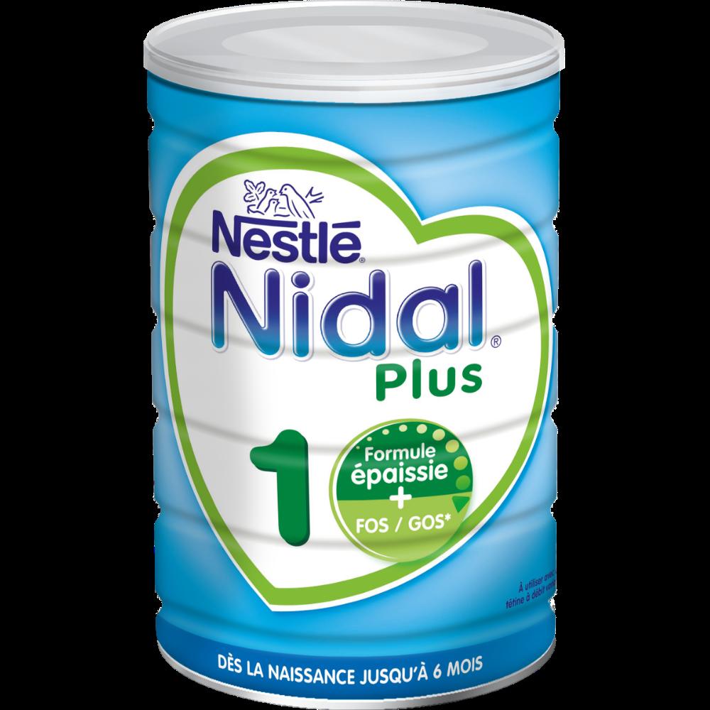 Lait en poudre Nidal plus 1er âge - de 0 à 6 mois, Nestlé (800 g)