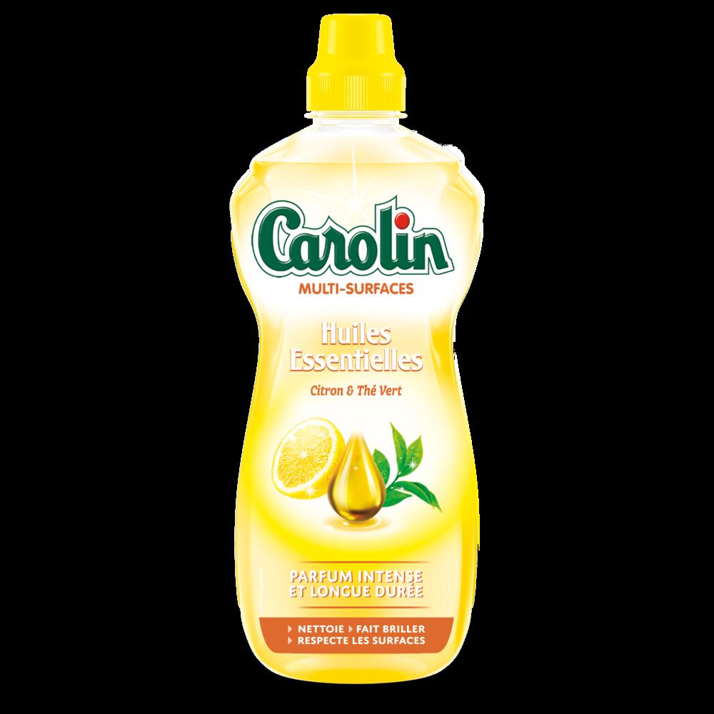 Nettoyant multi-surfaces aux huiles essentielles citron & thé vert, Carolin (1 L)
