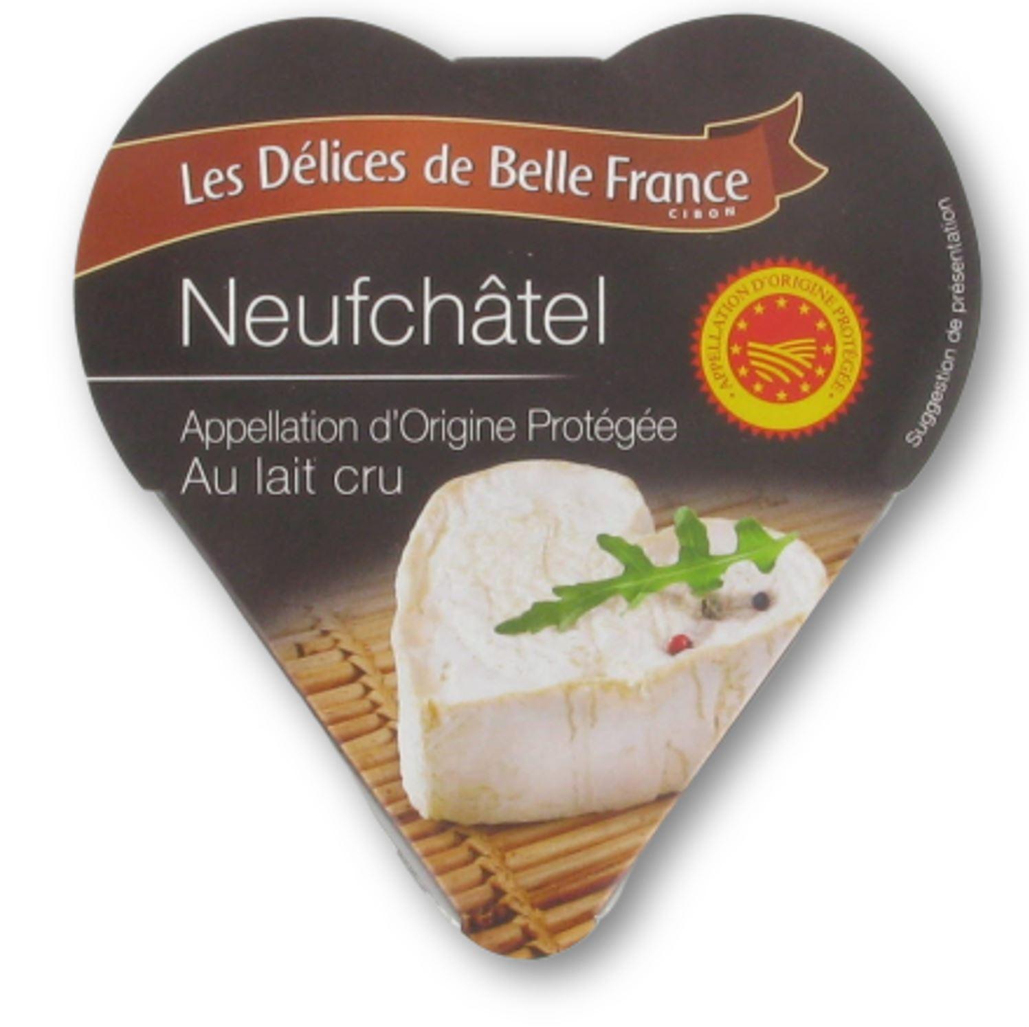 Coeur de Neufchatel au lait cru AOP,  Délices de Belle France (200 g)