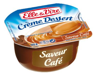 Crème dessert Café UHT, Elle & Vire (4 x 125 g)
