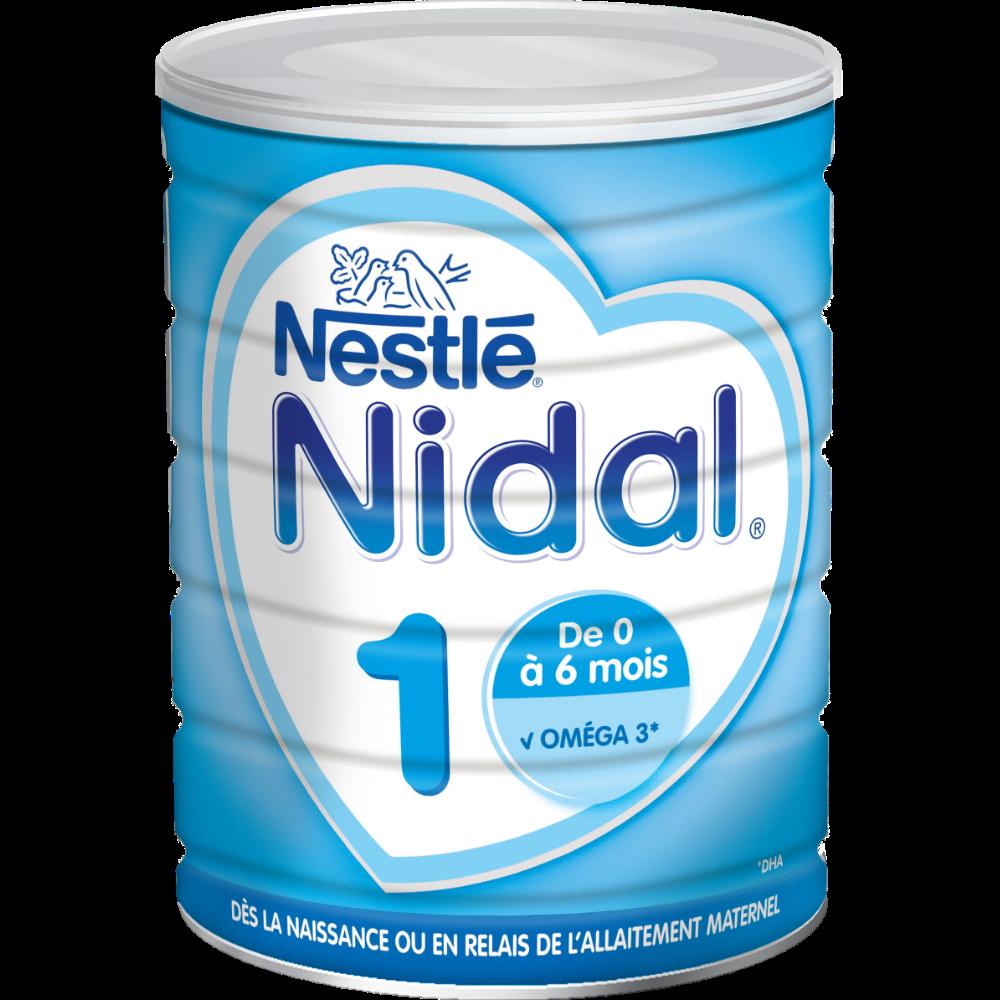 Lait en poudre Nidal 1er âge - de 0 à 6 mois, Nestlé (800 g)