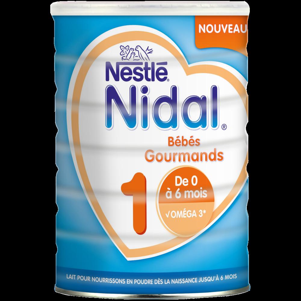 Lait de croissance 1 Nidal - de 0 à 6 mois, Nestlé (800 g)