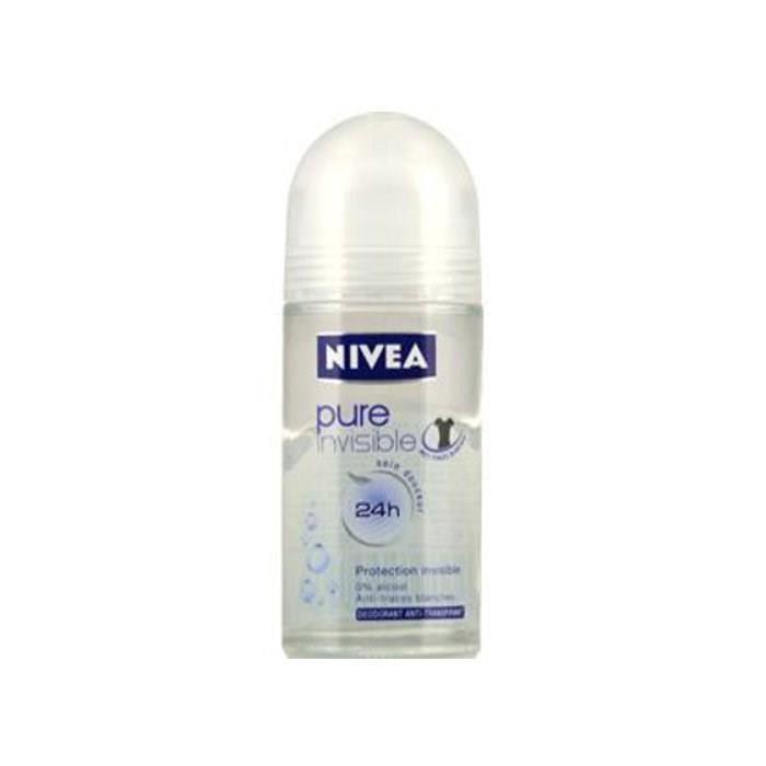 Déodorant bille Pure Invisible pour femme, Nivea (50 ml)