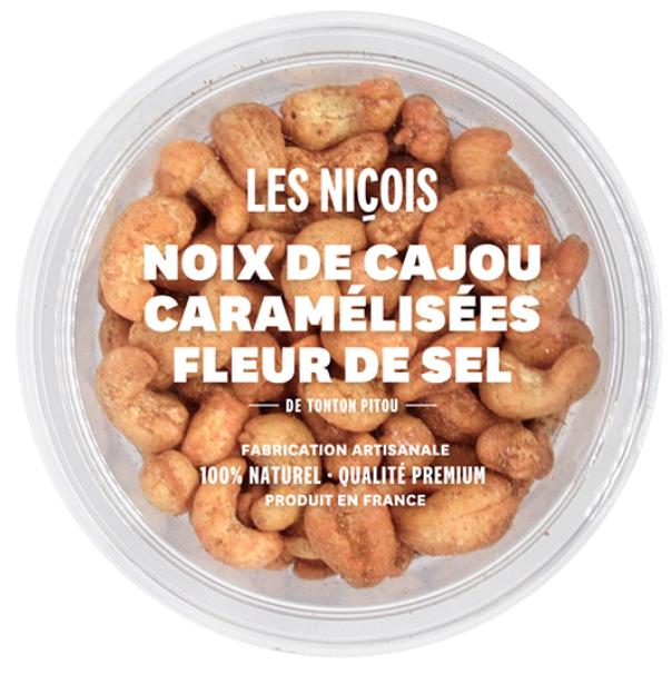 Noix de cajou caramélisées fleur de sel de Tonton Pitou, Les Niçois (110 g)