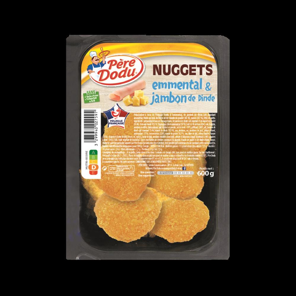 Nuggets jambon de dinde emmental, Père Dodu (600 g)