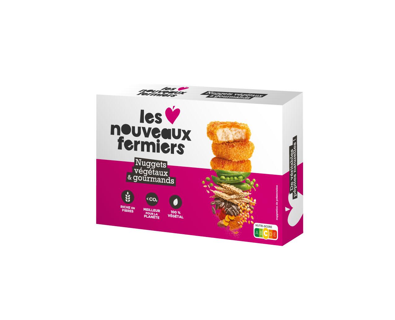 Nuggets végétaux et gourmands, Les Nouveaux Fermiers (210 g)