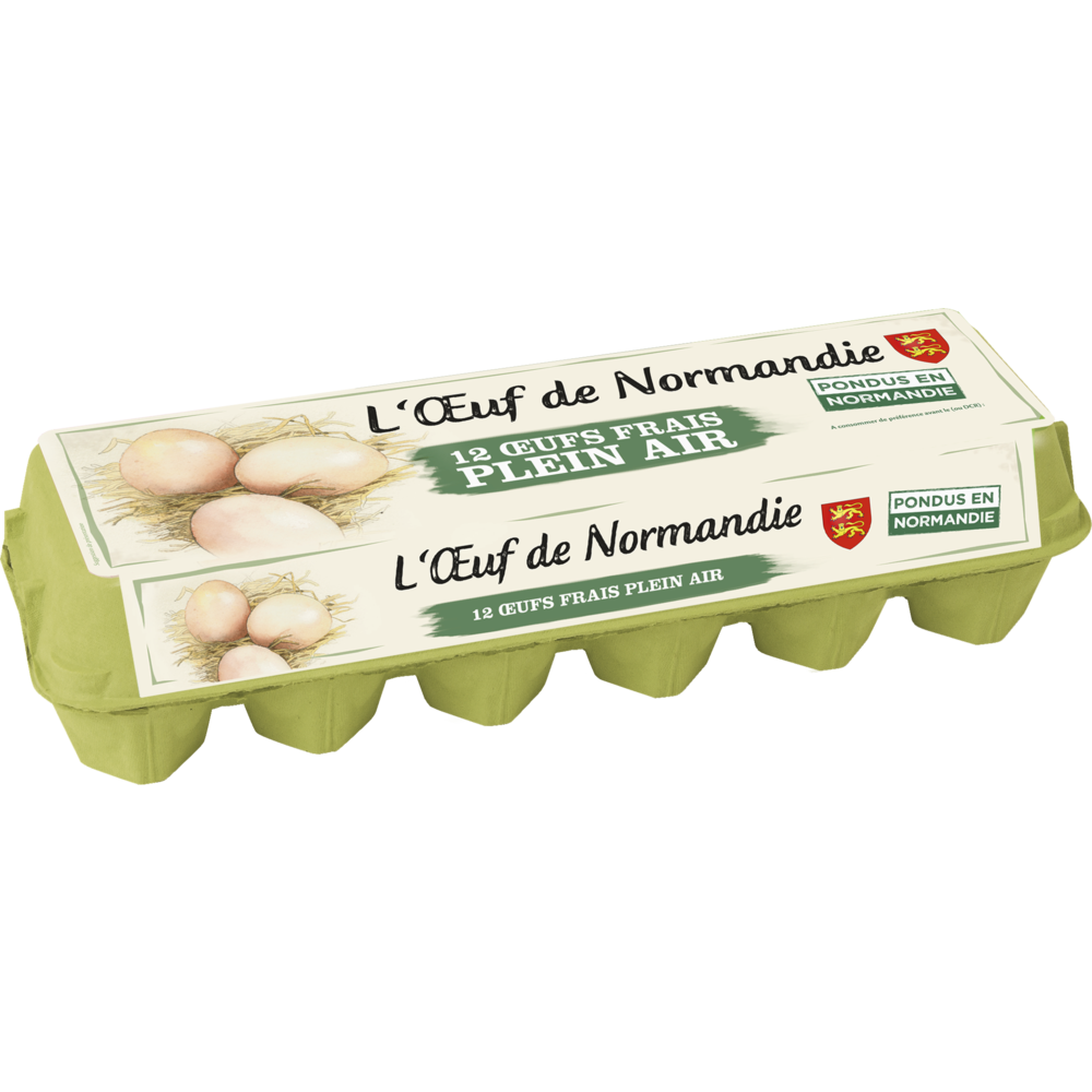 Oeufs moyens plein air, L'oeuf de Normandie (x 12)