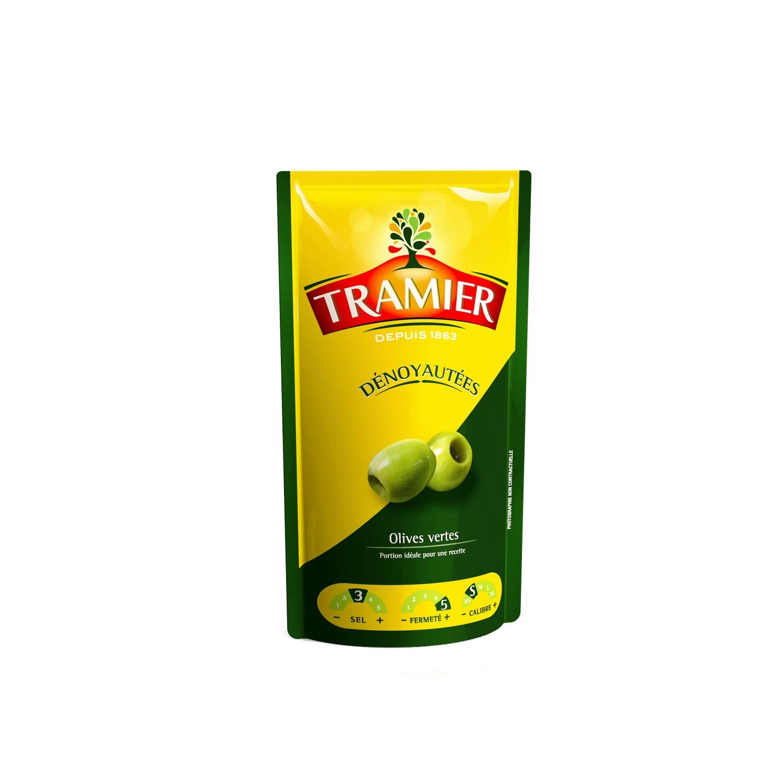 Olives vertes dénoyautées, Tramier (100 g)