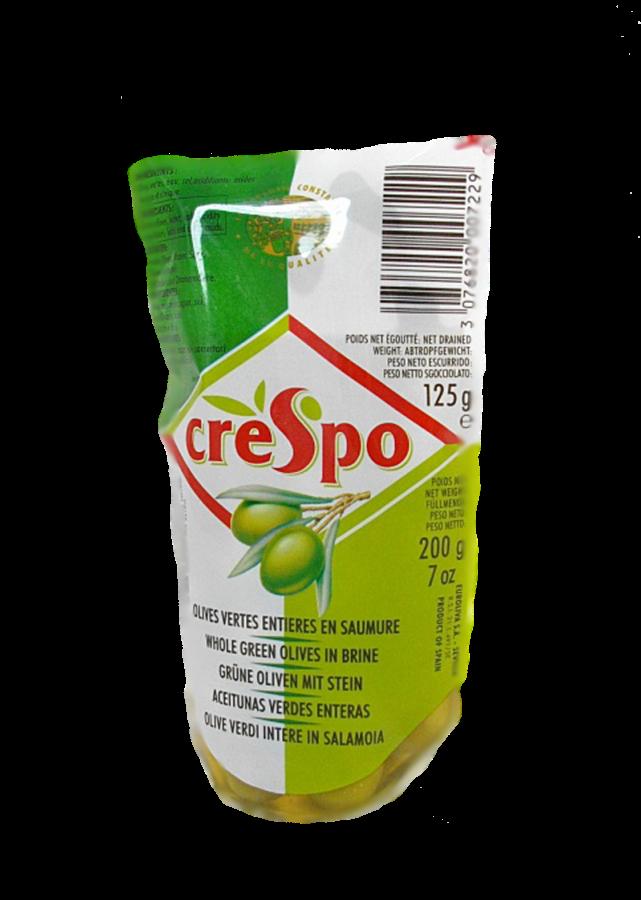 Olives vertes entières, Crespo (125 g)