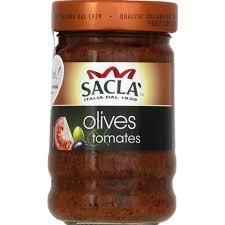 Sauce tomate olive, Sacla (190 g)