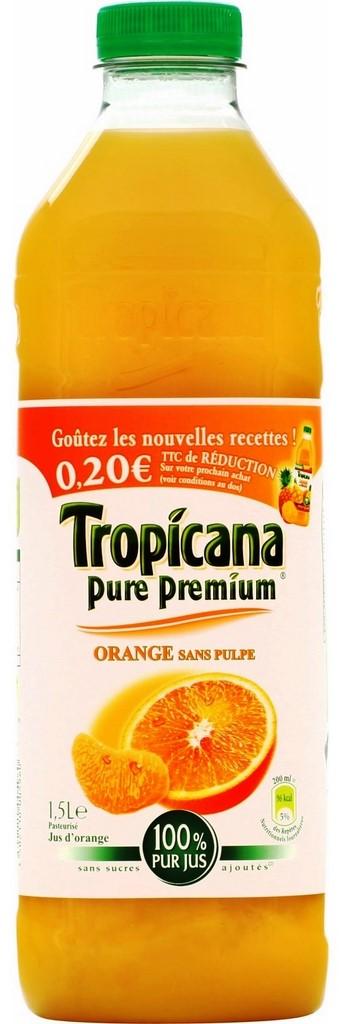 Jus d'orange sans pulpe, Pure Premium Tropicana (1,5 L)
