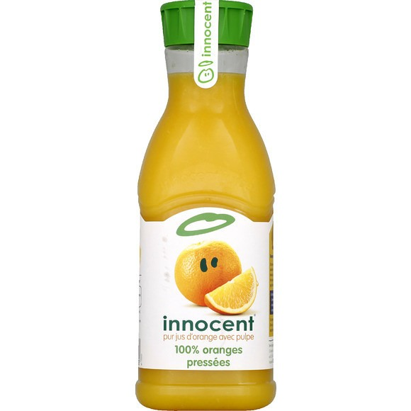 Jus d'orange avec pulpe 100% pur jus, Innocent (900 ml)