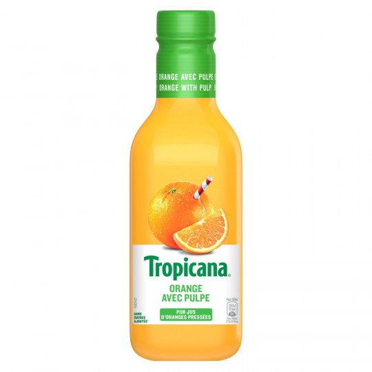 Jus d'orange pressée avec pulpe frais, Tropicana (900 ml)